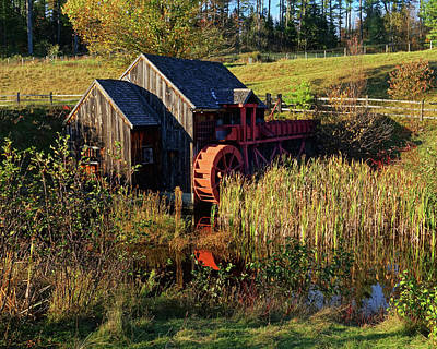 Photograph - Guildhall Vermont Grist Mill by Toby McGuire