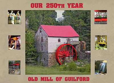 Photograph - Guilford 250th Year Collage  by Sandi OReilly