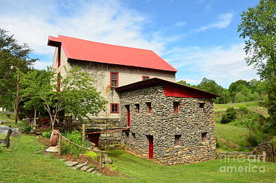 Photograph - Guilford Grist Mill - 2 by Bob Sample