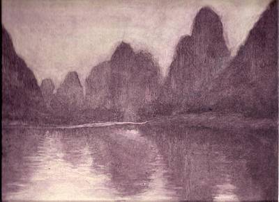 Printmaking Mixed Media - Guilin by Pati Hays