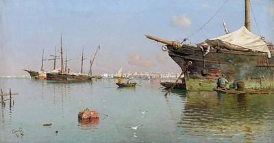World Forgotten - Guillermo Gomez Gil, 1862 - 1946, Port by Guillermo Gomez Gil
