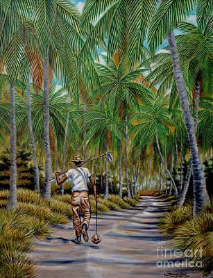 Caribe Painting - Guillermo Y Su Palmar by Samuel Lind