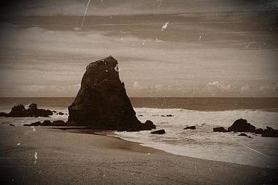 Photograph - Guincho Rock In Santa Cruz Portugal 02 by Dora Hathazi Mendes