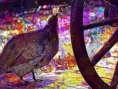 Guinea Fowl Guinea Fowl Chicken  Art Print