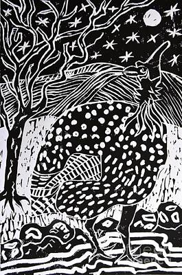 Guinea Fowl Under The Stars Art Print