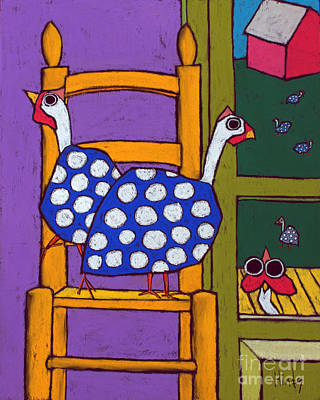 Guinea Wall Art - Painting - Guinea In The Chair by David Hinds