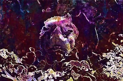 Digital Art - Guinea Pig Salad Eat Rosette  by PixBreak Art