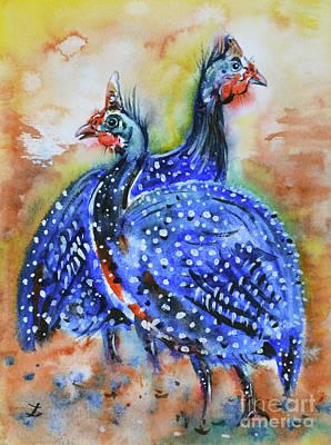 Painting - Guineas by Zaira Dzhaubaeva