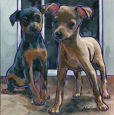 Guinness And Bailey Art Print by Nadi Spencer