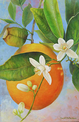 Painting - Guirlande Orange by Muriel Dolemieux