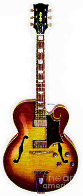 Digital Art - Guitar 0816 by Rafael Salazar