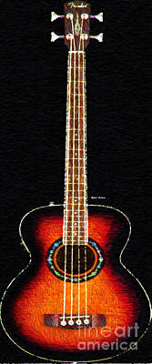 Digital Art - Guitar 0818 by Rafael Salazar