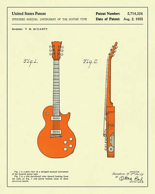 Guitar 1955 Art Print