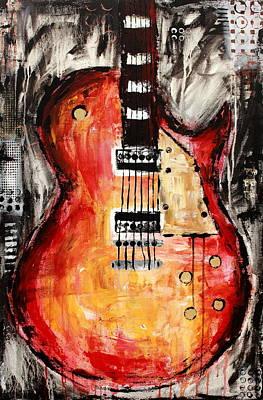 Heavy Metal Painting - Guitar 7 by Kayla Mallen