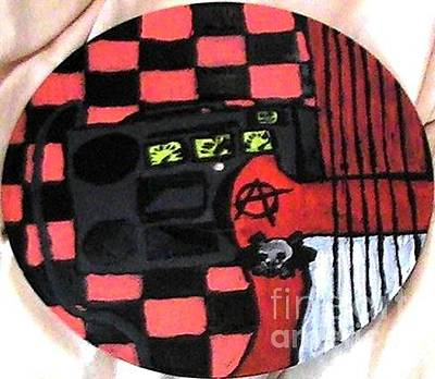 Painting - Guitar Amp Checkers by Travis Dosser