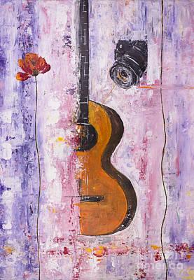 Guitar And Camera Soul Art Print