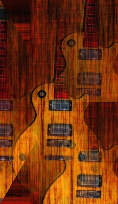 Music Digital Art - Guitar Army by Bill Cannon