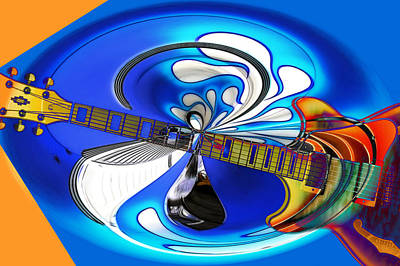 Photograph - Guitar Art Mix by Steve McKinzie