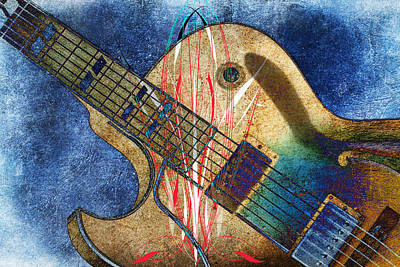 Photograph - Guitar Art by Steve McKinzie