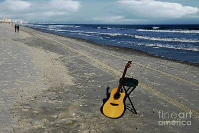 Photograph - Guitar At Myrtle Beach by Bob Pardue