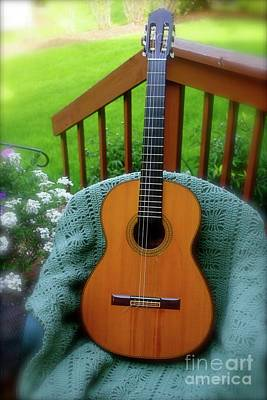 Photograph - Guitar Awaiting by The Art of Alice Terrill