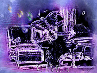 Art Print featuring the photograph Guitar Blues by Susan Kinney