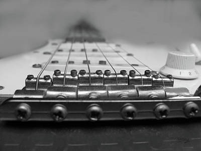 Photograph - Guitar Bridge by Tom Conway