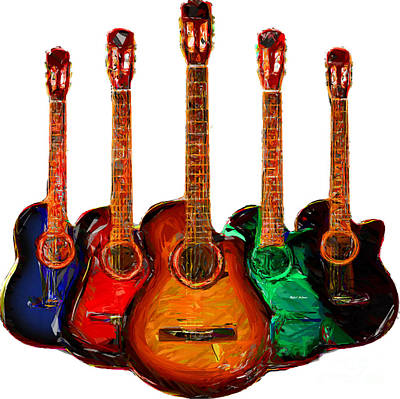 Digital Art - Guitar Collection by Rafael Salazar