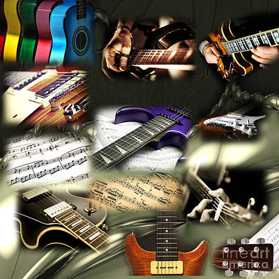 Photograph - Guitar Colors by John Rizzuto