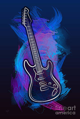 Digital Art - Guitar Craze by Bedros Awak