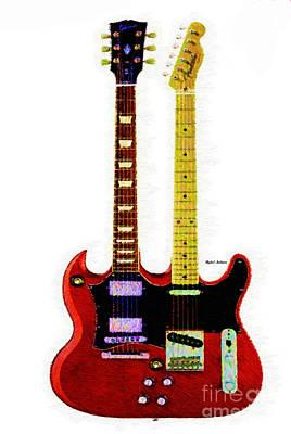 Digital Art - Guitar Duo by Rafael Salazar