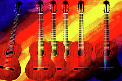 Digital Art - Guitar Fantasy One by Richard Farrington