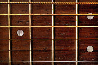 Photograph - Guitar Fret Board by  Onyonet  Photo Studios