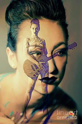 Photograph - Guitar Girl by Afrodita Ellerman