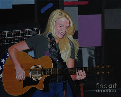 Painting - Guitar Girl by Michael Nowak