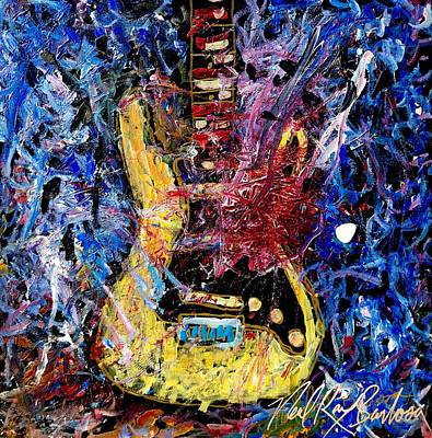 Painting - Guitar Hero 9 by Neal Barbosa