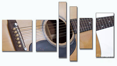 Photograph - Guitar In Panels by Cecil Fuselier