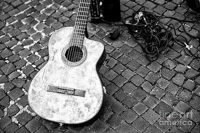 Photograph - Guitar In Rome by John Rizzuto