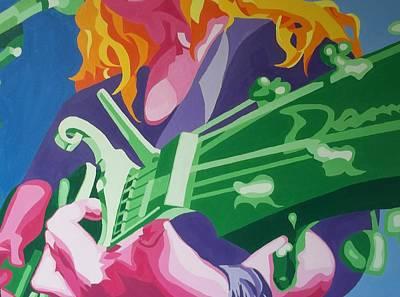 Mic Drawing - Guitar by Kat Davenport