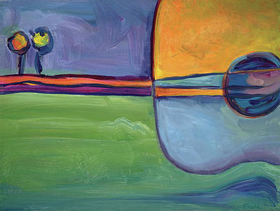 Painting - Guitar Landscape by Sheri Hoeger