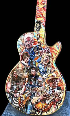 Guitar Legends Picking A Gibson Art Print