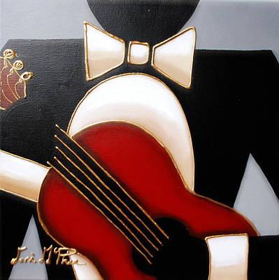 Jazz Painting - Guitar by Lori McPhee