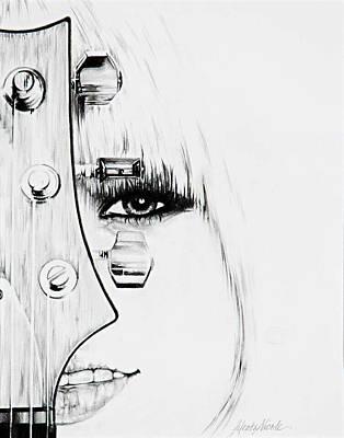 Drawing - Guitar Love by Jeleata Nicole