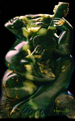 Sculpture - Guitar Man I by Angela Treat Lyon