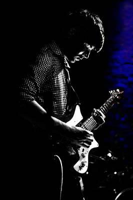Photograph - Guitar Man In Blue by Meirion Matthias