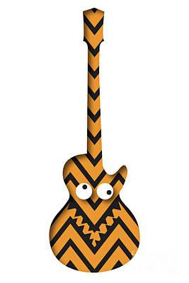 Digital Art - Guitar Monster by Benjamin Harte
