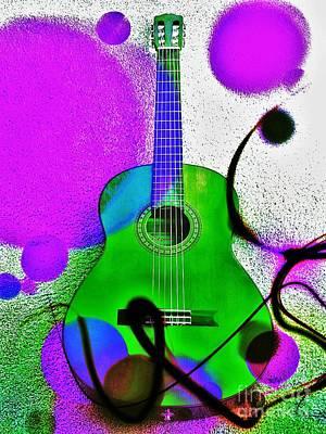 Guitar Mood Art Print by Jasna Gopic