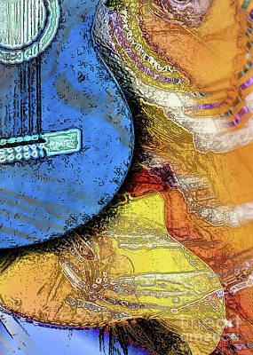 Art Print featuring the painting Guitar Music by Allison Ashton