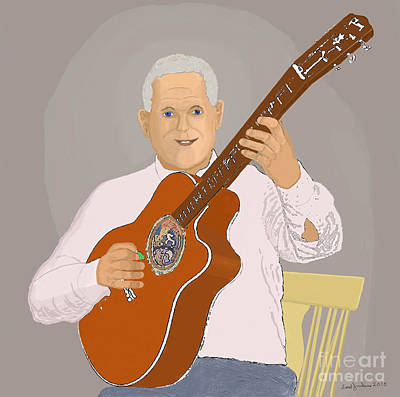 Guitar Musician Original by Fred Jinkins