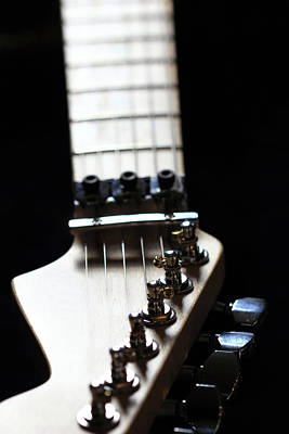 Photograph - Guitar Neck by Angela Murdock